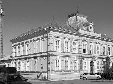 Sídlo knihovny v letech 1912 - 1914, během první světové války byly knihy uskladněny v kanceláři na radnici a poté se pravděpodobně vrátily na toto místo.
