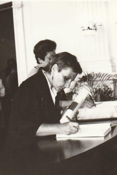 Eva Pírková, ředitelka knihovny v letech 1986-1997.