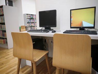 Veřejné počítače v dětském oddělení
